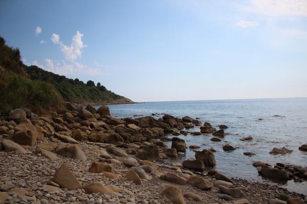 Küste vor dem Ferienhaus Vignazzurra