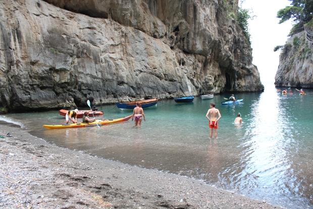 Kanutour an der Amalfiküste