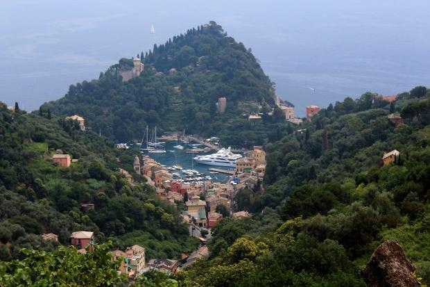 Blick zurück auf Portofino